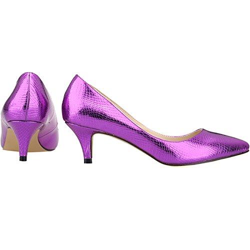Violet Escarpins pour 1XEY Ni678 Renly Femme zECqXWSxw
