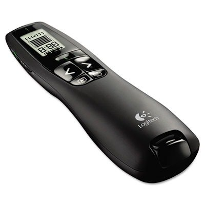 LOG910001350 UNITED STATIONERS (OP) WIRELESS PRESENTER GRE LASR PNTR 100FT PRO 1/EA