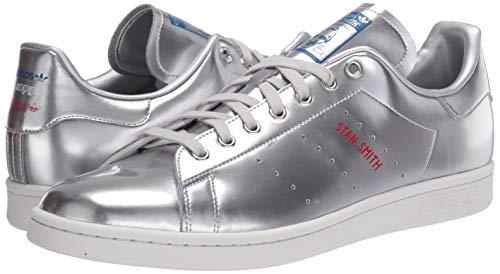 adidas Originals mens Stan Smith Sneaker, Silver Metallic/Silver Metallic/Crystal White, 6.5 US