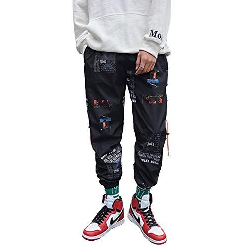 Astellarie Mens Fashion Casual Pants Joggers Sweatpants Sports Print Trousers