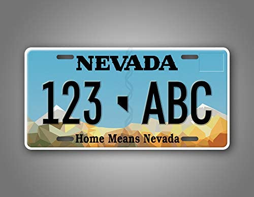 for display or crafts set of 5 Nevada License Plates