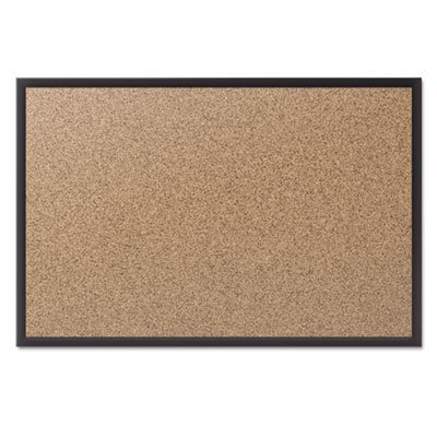 * Cork Bulletin Board with Black Aluminum Frame, 48 x 36 *