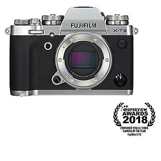 "Fujifilm X-T3 26.1 MP Mirrorless Camera Body (APS-C X-Trans CMOS 4 Sensor, X-Processor 4, EVF, 3"" Tilt Touchscreen, Fast & Accurate AF, Face/Eye AF, 4K/60P Video, Film Simulation Mode) - Silver 16"