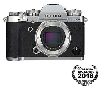 "Fujifilm X-T3 26.1 MP Mirrorless Camera Body (APS-C X-Trans CMOS 4 Sensor, X-Processor 4, EVF, 3"" Tilt Touchscreen, Fast & Accurate AF, Face/Eye AF, 4K/60P Video, Film Simulation Mode) - Silver 1"