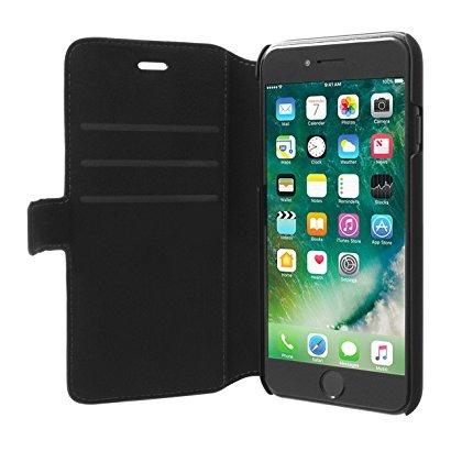 """Mercedes MEFLBKP7LHLCABK """"BOW II"""" Genuine Leder Booktype Schutzhülle für Apple iPhone 7 Plus schwarz"""
