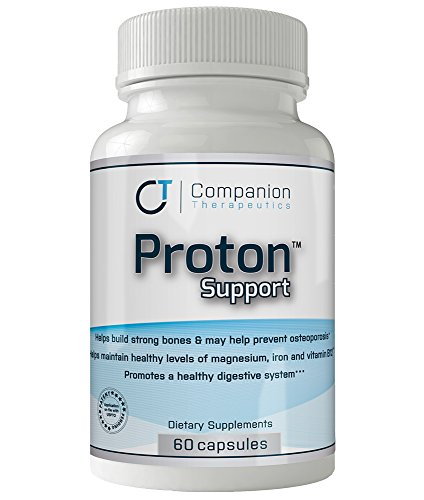 Proton Support (60 Caps) -Vitamins, Minerals and Probiotics Complex to support Acid Reflux and GERD patients taking Omeprazole, Prilosec®, Nexium®, or Prevacid®, among others. -