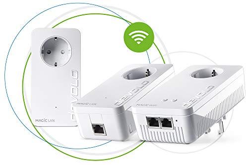 devolo Magic 1 - 1200 WiFi AC Gaming Kit dLAN 2.0: Ideal para Juegos, 3 adaptadores Powerline para WLAN fiable AC Simplemente a través de la línea eléctrica a través de Paredes y Techo