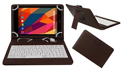 Acm USB Keyboard Case Compatible with Micromax Canvas P680 Tablet Cover StandStudy Gaming Direct Plug   Play   Brown