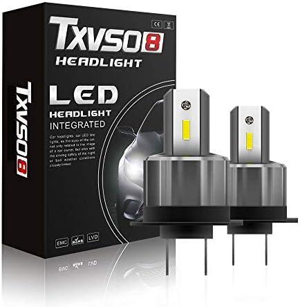 Zihaoe H7 Scheinwerferlampe Mit Fernlicht Abblendlicht 72w 36w Birne 6000k Weiß 7200lm Weiß Xenon Effekt Halogen Ersatzsatz 2pcs Garten