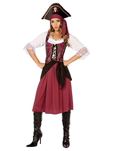 Burgundy Pirate Wench Adult (Pirate Wench Adult Costumes)