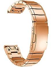 XIXI-Home Roestvrijstalen bandjes Fit voor Garmin Fenix 5s / 5s 6s / 6s Pro Plus Smart Watch Band Metal Quick Easy Fit Armband 20mm Accessoire Correa (Color : Rose Gold, Size : 20mm for fenix 6S)
