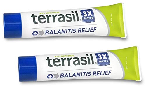 Terrasil Balanitis Relief 2 Pack 14g - 100% Guaranteed, Patented All-natural, gentle, soothing skin relief ointment for relief from irritation, itch, redness and inflammation, Balanitis symptoms