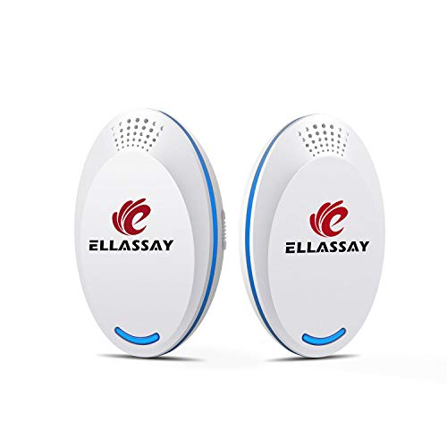 Ultrasonic Pest Repeller   Ultrasonic & Ultrasound Pest Repellent - Pest Reject - Set of 2 Electronic Pest Control - Plug in Home Indoor Repeller - Get Rid of Mice, Roaches, Fleas, Mosquitoes, Spiders
