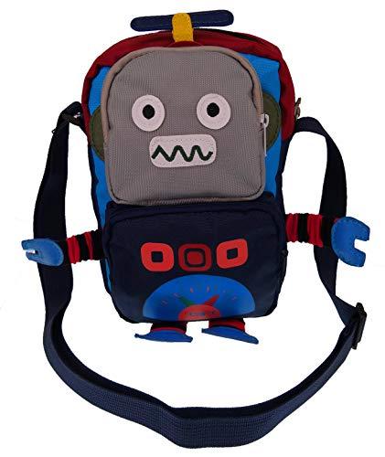 ABC STORY Women Cute Oxford Cartoon Robot Cross Body Shoulder Phone Wallet Purse Bag for Teen Girls Kids -