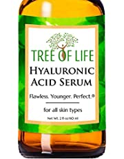 Flawless. Younger. Perfect. Hyaluronic Acid Serum For Skin - Double Size (2Oz) Moisturizer For Face 100% Pure Hyaluronic Acid + Vitamin C And Moisturizing Ingredients - Paraben Free, Vegan - 2 Fl Oz