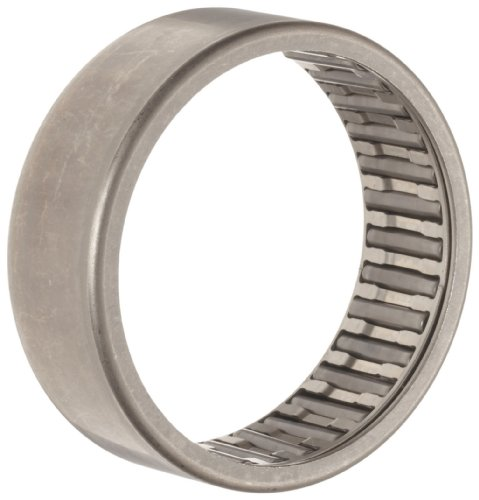 INA HK0810 Needle Roller Bearing, Caged Drawn Cup, Outer Ring and Roller, Steel Cage, Open End, Metric, 8mm ID, 12mm OD, 10mm Width, 28000rpm Maximum Rotational Speed, 890lbf Static Load Capacity, 850lbf Dynamic Load Capacity