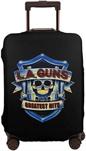 スーツケースカバー キャリーカバー L.A. Guns エルエーガンズ ラゲッジカバー トランクカバー 伸縮素材 かわいい 洗える トラベルダストカバー 荷物カバー 保護カバー 旅行 おしゃれ S M L XL 傷防止 防塵カバー 1枚