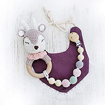 Fairytale teething rings crochet unicorn teething ring   Etsy   355x355