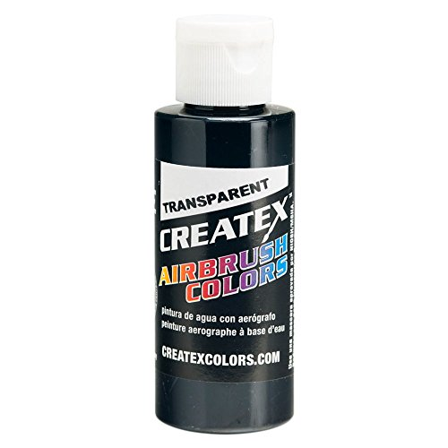 Airbrush Transparent Paint Capacity: 2 Oz, Color: Black Createx Paint 2 Oz Bottle