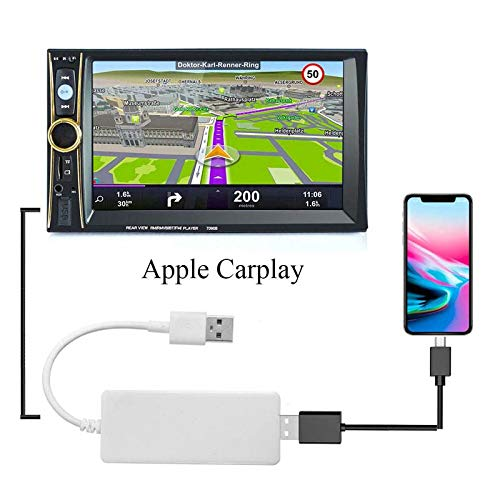 USB Smart Link Apple CarPlay Dongle for Android Navigation Player Mini USB Carplay Stick with Android Auto Charger for Android Radio,Navigation System Support Touch and Voice