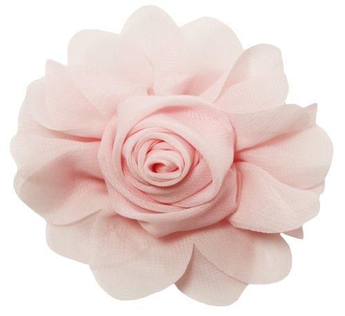 Pink Rosette (Light Pink Chiffon Rosette Hair Clip - 4