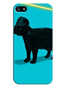 Cute little black dog with light blue background for iphone 5/5s on-online