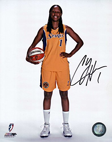 Chamique Holdsclaw Signed Autographed 8X10 Photo Los Angeles Sparks w/Ball w/COA by Cardboard Legends Online