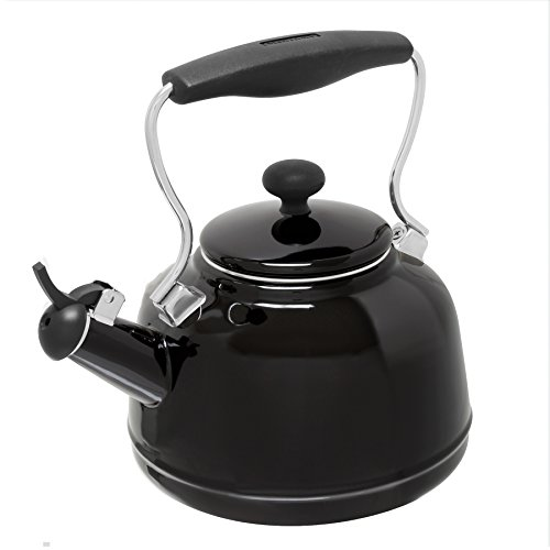 Chantal 2 Qt. Vintage Stovetop Tea Kettle - Black