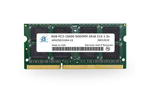 Adamanta 8GB (1x8GB) Laptop Memory Upgrade DDR3 1333Mhz PC3-10600 SODIMM 2Rx8 CL9 1.5v Notebook RAM DRAM