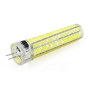 SODIAL LED Lampara de silicona regulable G4 5W LED Bombilla de maiz 136 SMD 5730 220V 200V-240V Blanco: Amazon.es: Iluminación