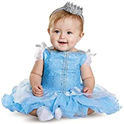 Disguise Baby Girls' Cinderella Prestige Infant Costume, Blue, 6-12 Months