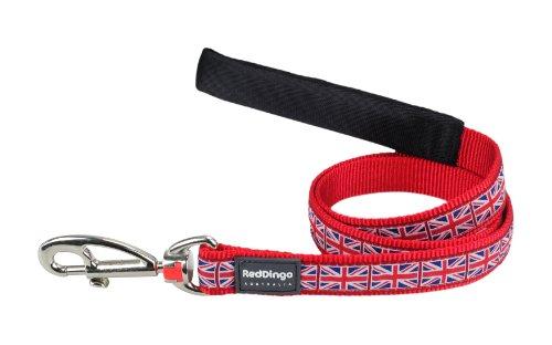 Red Dingo Designer Dog Lead, Union Jack (25mm x 1.2m) L