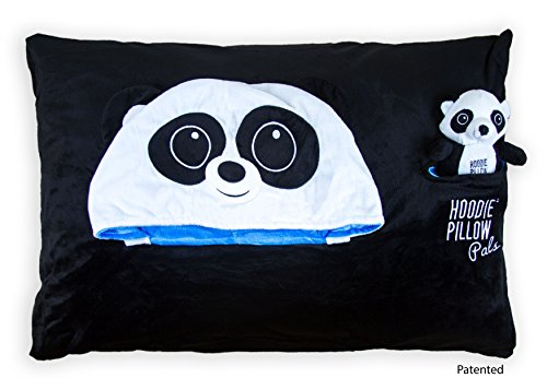 HoodiePillow Pals Pillowcase - Black Panda - Pal Black Case