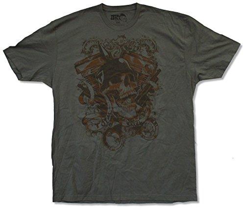 - Total Skull Adult Helmet Skull Charcoal Grey T-Shirt (X-Large)