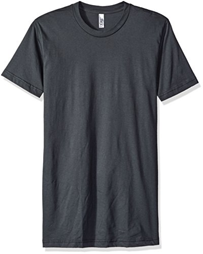 American Apparel Men's Fine Jersey Short Sleeve Tall Tee, Asphalt, X-Large American Apparel Jersey Tee
