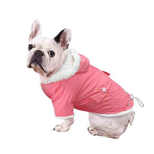RSHSJCZZY Pet Dog Winter Coat Windproof Waterproof Clothes Puppy Fleece Keep Warm Hooded Pet Costumes]()