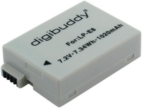 Digibuddy Akku Für Canon Lp E8 Li Ion Schwarz Kamera