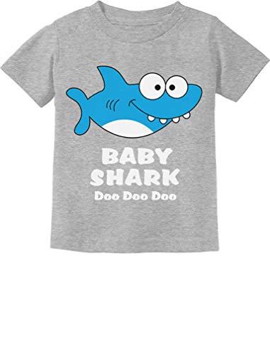 Baby Shark Song Doo doo doo Family Dance for Boy Girl Infant Kids T-Shirt 6M Gray ()