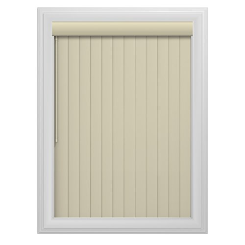 (Bali Blinds 78-Inch-by-84-Inch Ribbed Vane Vinyl Vertical Blind, Alabaster)