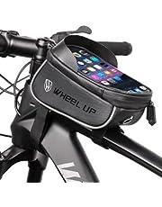 Bolsa de selim para Bicicleta à prova d'água com design reflexivo, Bolsa para armazenamento de ferramentas, Bolsa de espigão de selim de bicicleta, com armazenamento de celular, de qualidade premium, Preta