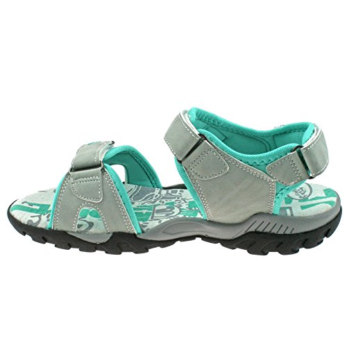 5 Sandals L498 Sports UK KD Ladies 38 Grey PDQ Mint Light EU Walking Adjustable 4aPaF