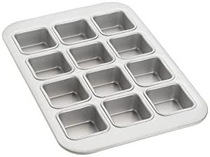 Amazon Com Fat Daddio S 12 Cup Square Muffin Pan Small
