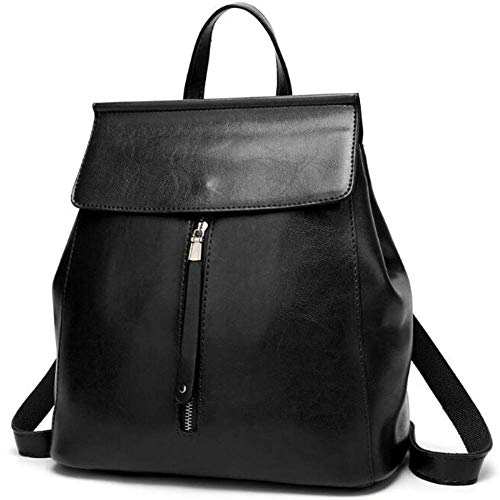 Nero Way Da Commuter Leather Brown Ol Zaino Shoulder Donna Scuola A color 3 Luc Bag Borsa Ladies Fashionable Tracolla Impermeabile Back wRPx4z