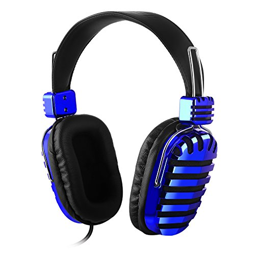 Mixcder Mic5 Stereo Lightweight Music Headphones Adjustable Headband with Microphone 3.5mm for Travel, Work,...