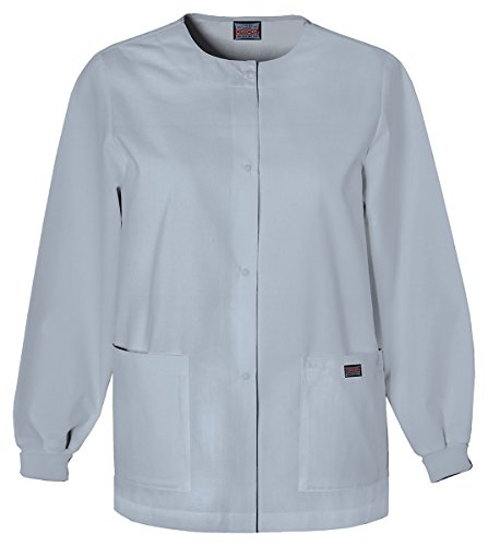 Cherokee Women's Traditional Snap Front Warm-Up Jacket_Grey_X-Large,4350