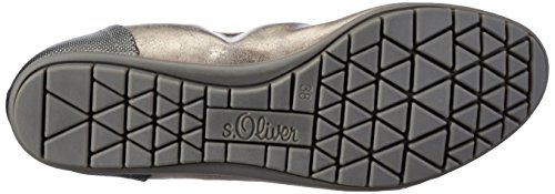 s.Oliver 22119 - Bailarinas de material sintético para mujer Plateado (Pewter Metal.)