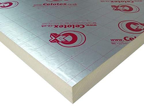 2400mm x 1200mm x 40mm Celotex High Performance Rigid Foam PIR Insulation Sheet Roof or Floor …
