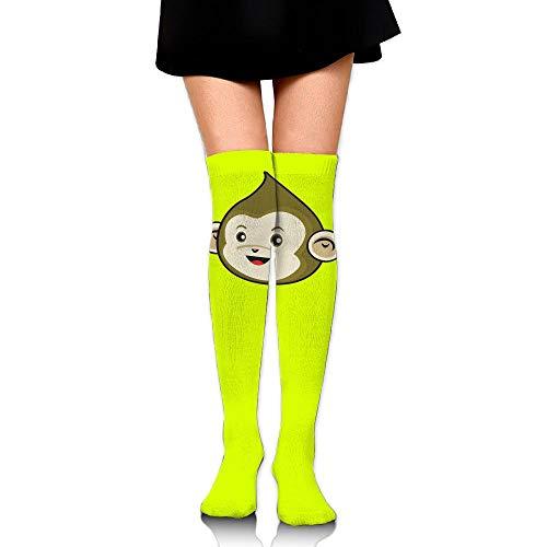 High Elasticity Girl Cotton Knee High Socks Uniform Green Monkey Women Tube -