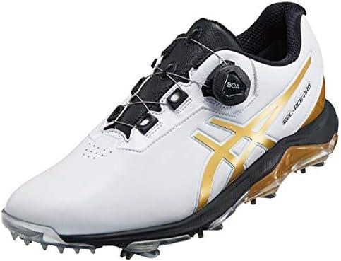 ゲルエース プロ 4 ボア ゴルフシューズ 1113A002 101 ホワイト/リッチゴールド 26.5cm