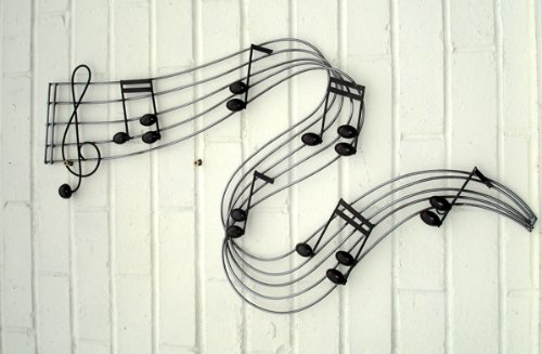 Suitable for Indoor and Outdoor Use Metal Wall Art Musical Note River